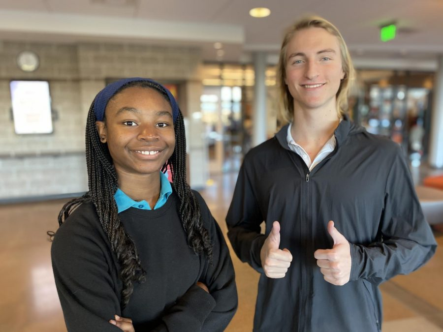 Lauryn Glenn '22 and Jackson Daichendt '20 are members fo the Centennial Youth Council