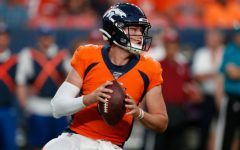 Denver Broncos quarterback Drew Lock (3) looks to throw against the San Francisco 49ers during the second half of an NFL preseason football game, Monday, Aug. 19, 2019, in Denver. (AP Photo/David Zalubowski)