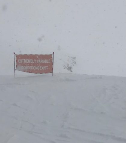 Photo shows a warning of variable conditions in Colorado. By Dylan Mullen '22