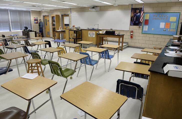 Many schools still remain empty as the Coronavirus forced schools worldwide to turn virtual. (Wikimedia Common fair use)
