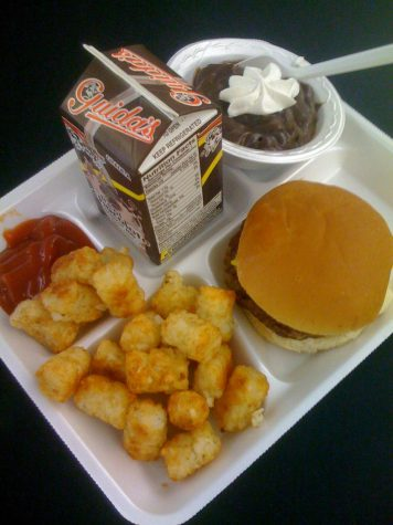 Standard lunches served throughout schools in America, consisting of nothing but, sugar, salt, and carbs. (Flickr images, Common Fair Use)